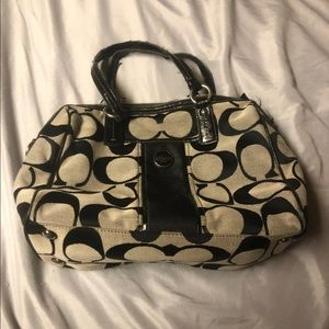 Authentic Coach Purse Brown and Black